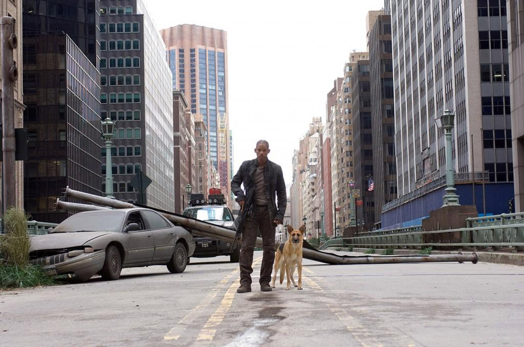 """Will Smith in """"I Am Legend,"""" just one of many apacalyptic visions offered by recent films. (Warner Bros. Pictures/MCT)"""