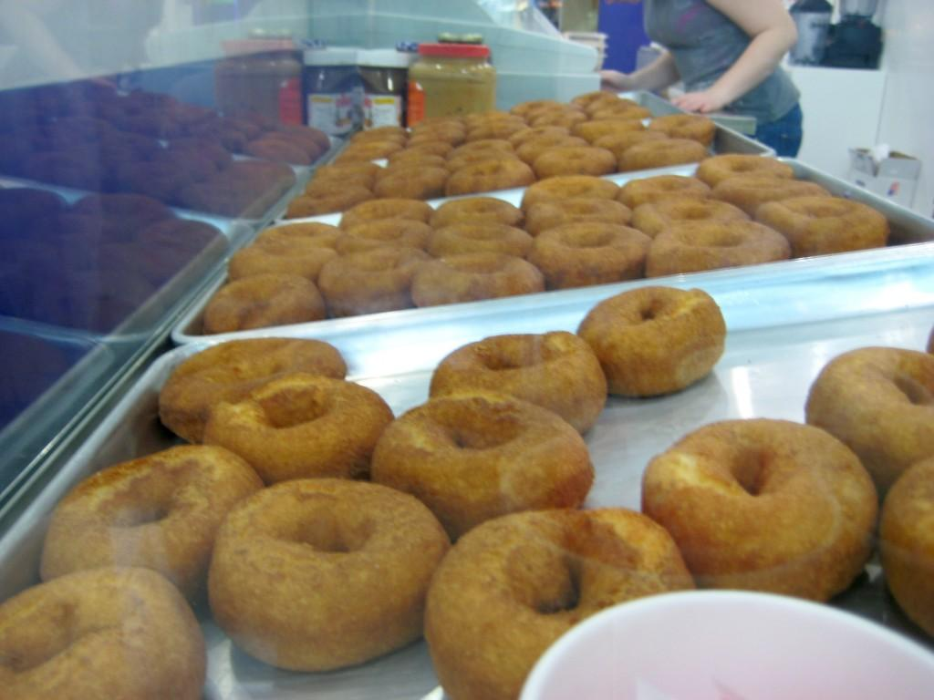 At Holey Cream, located on Ninth Ave. between 52nd and 53rd Streets, doughnuts are made fresh daily. (Matt Surrusco/The Observer)