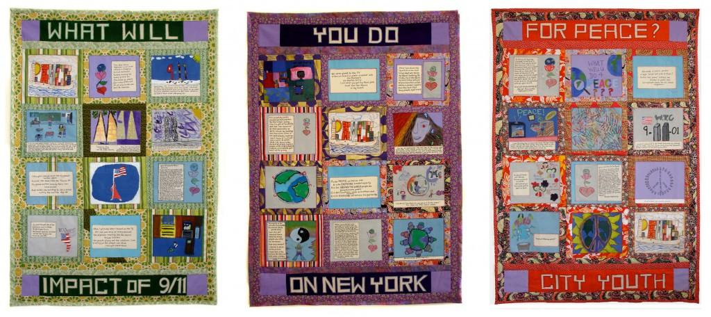 Quilt created by Faith Ringgold and New York City students featured in the upcoming Met exhibit. (Faith Ringgold And Young New Yorkers (Ages 8-19)/FAbric And Acrylic  Q)