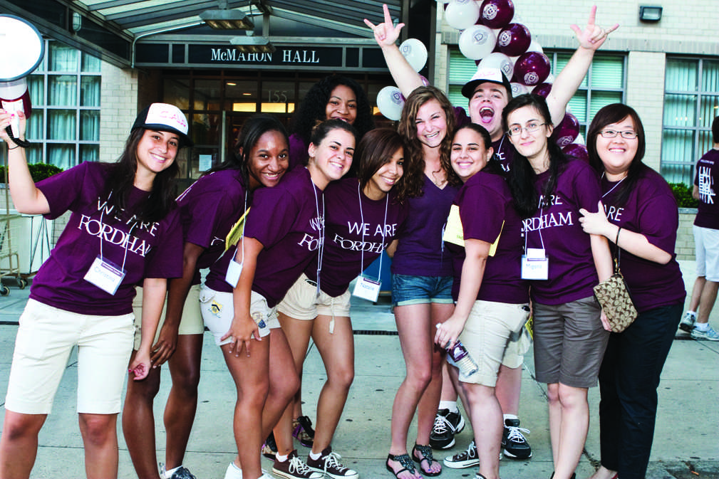 Orientation+leaders+know+no+bounds+in+their+efforts+to+make+new+students+feel+welcome+at+Fordham.+%28Courtesy+of+Luke+Villapaz%29