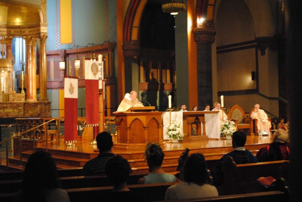 Father+McShane+delivers+the+homily+during+the+Mass+of+the+Holy+Spirit+at+St.+Paul%27s%2C+the+first+part+of+Fordham+College+at+Lincoln+Center%27s+Tenth+Anniversary+Remembrance+on+September+11%2C+2011.+%28Charlie+Puente%2FThe+Observer%29