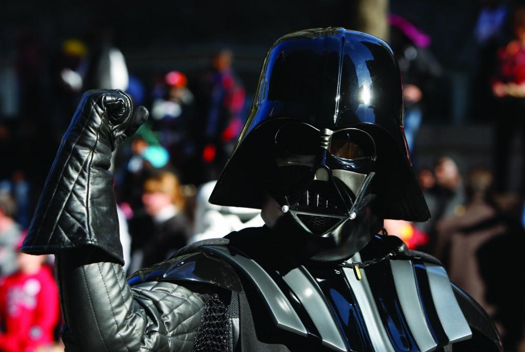 Even Darth Vader disapproves of the changes George Lucas has made to his Blu-ray release of Star Wars. (Gerry Melendez/The State/MCT)
