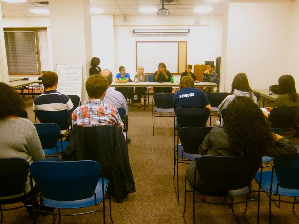 +RHA+and+Res+Life+had+a+panel+discussion+with+students+about+the+policies+in+McMahon+Hall.+%28Kyle+Morrison%2FThe+Observer%29