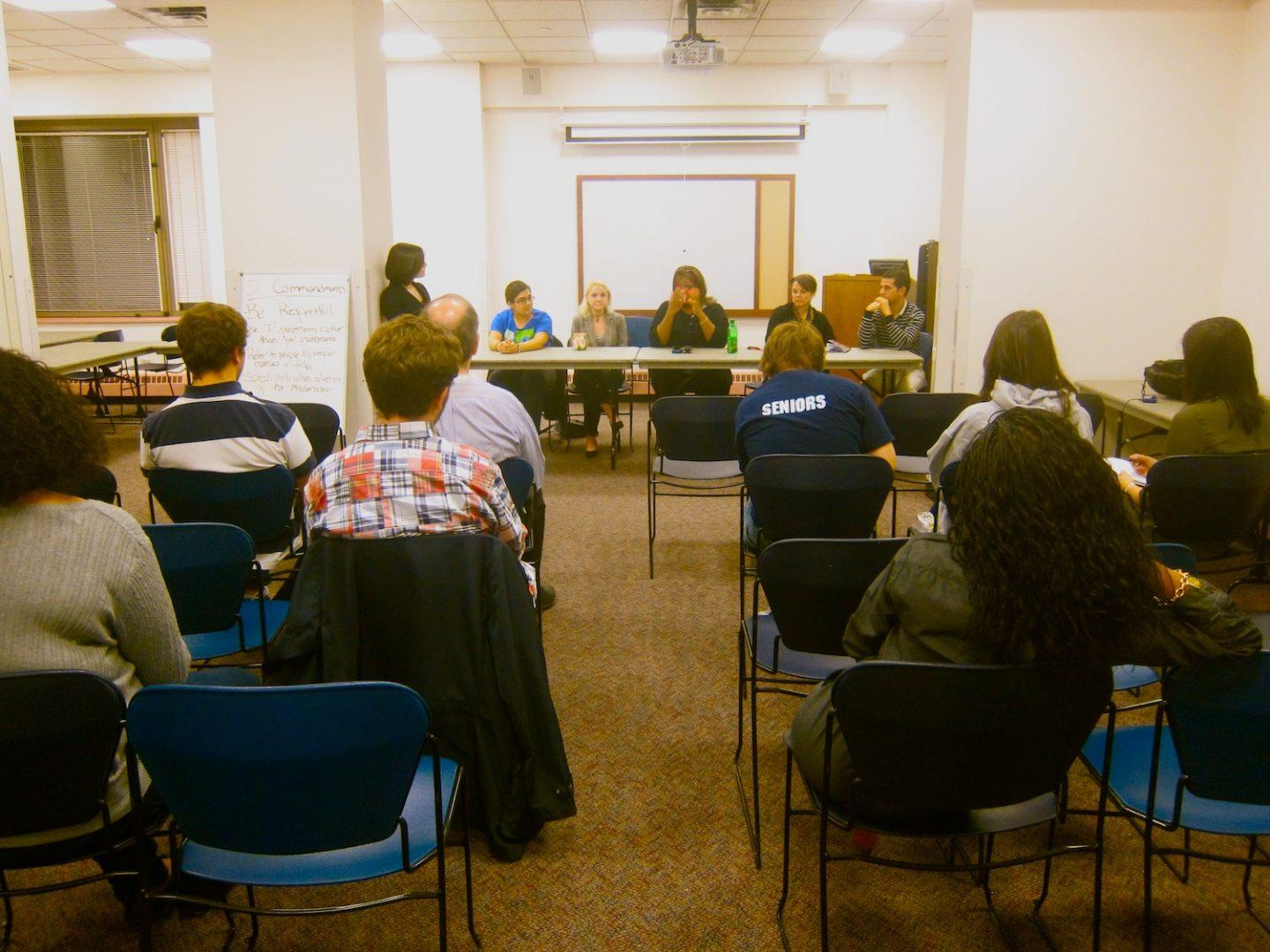 RHA and Res Life had a panel discussion with students about the policies in McMahon Hall. (Kyle Morrison/The Observer)