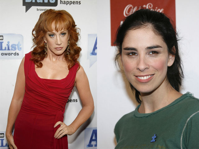 Kathy Griffin and Sarah Silverman are two of the many comedians that will be performing at this years New York Comedy Festival. (Rob Kim/Landov/MCT)