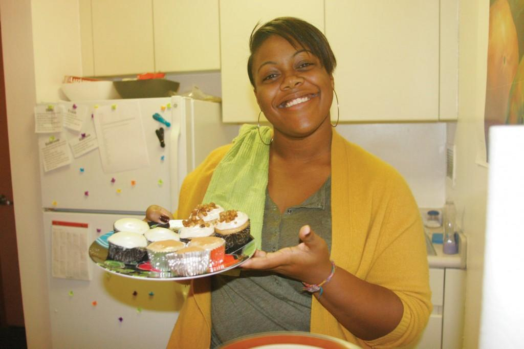 Kirstin Bunkley, FCLC '15 began her own cupcake business in her dorm. (Ai Elo/The Observer)
