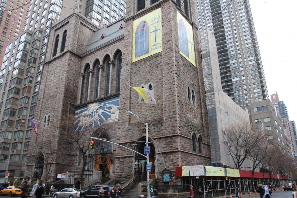 Catholic Mass changes can be found at the Church of St. Paul the Apostle, across the street from FCLC. (Laura Chang/The Observer)