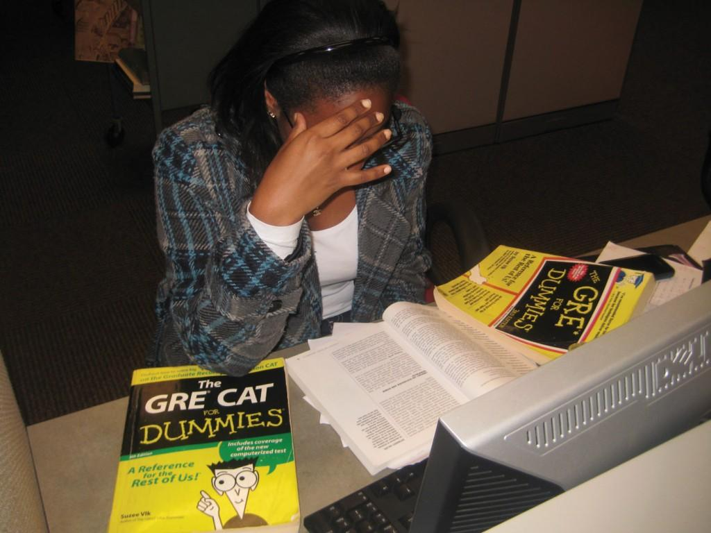 As if studying for the GRE weren't enough, students are also required to fill out the same application multiple times for different schools, only adding pressure to an already stressful process. (Fatima Shabbir/The Observer)