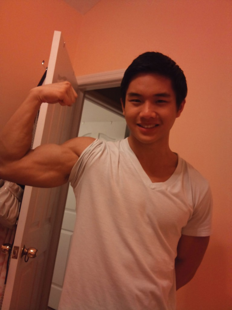 Keep doing these workouts and with time, your arms and chest will eventually look like this. (Courtesy of Jasper Chang)