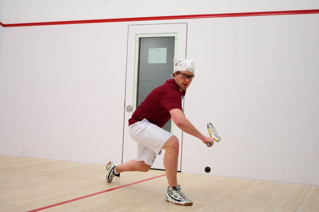 Chris Souther, FCRH '12, and the rest of the squash team are ready to build a program that can hang tough with the top 40 teams. (Courtesy of Fordham Sports)