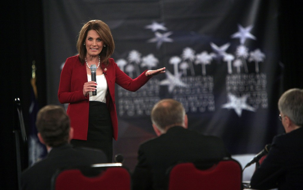 Michelle Bachmann is vying for the Republican presidential nomination, but she's been receiving criticism lately for her stance on gay rights. (Kim Foster-Tobin/The State/MCT)