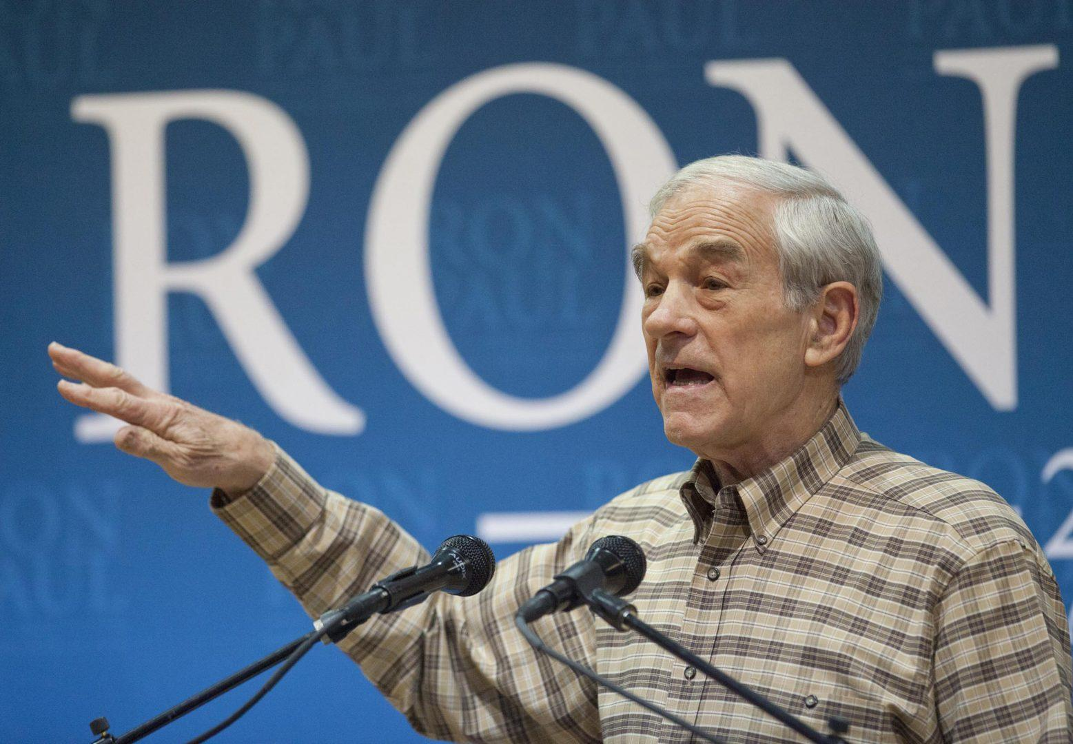 At a rally in Boise, Idaho, Ron Paul easily wins over the crowd with his speech, but voters need to examine his questionable future goals as well. (Darin Oswald/Idaho State/MCT)