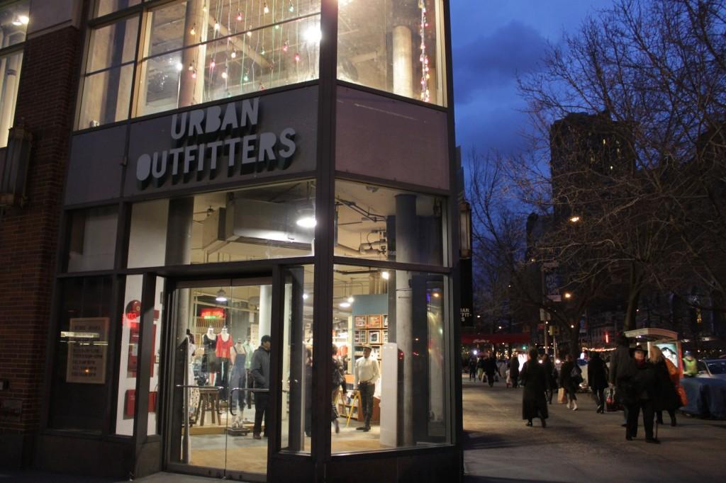 Urban Outfitters, a store that is considered hip, is one of the many retail stores that displays and sells clothing that harkens to the past. (Sara Azoulay/The Observer)