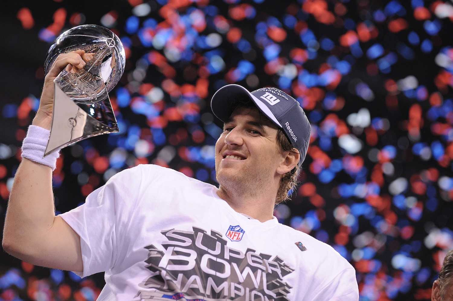 Eli on Top of NFL but Still Looking Up to Peyton