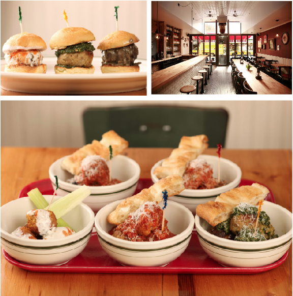 Meatball Shop customers can choose from a wide range of meatballs, sauces and cheeses. (Courtesy of the Meatball Shop)