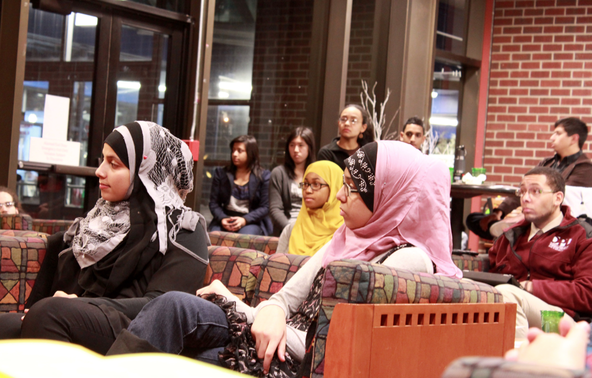 "After the NYPD monitored Muslim college students in the northeastern U.S., FCLC students attended MSA's ""Know Your Rights"" event where they learned how to defend themselves if approached by law enforcement. (Ayer Chan/The Observer)"