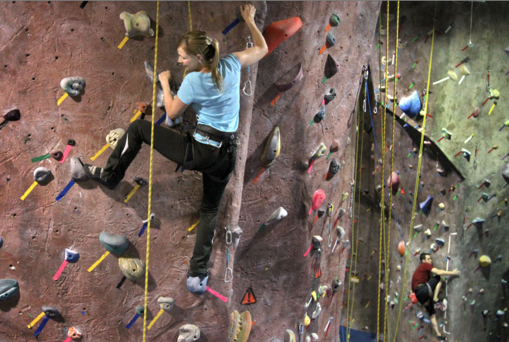 Rock climbing is a fun way to exercise and spend time with friends. (Janet Jensen/Tacoma News-Tribune/MCT)