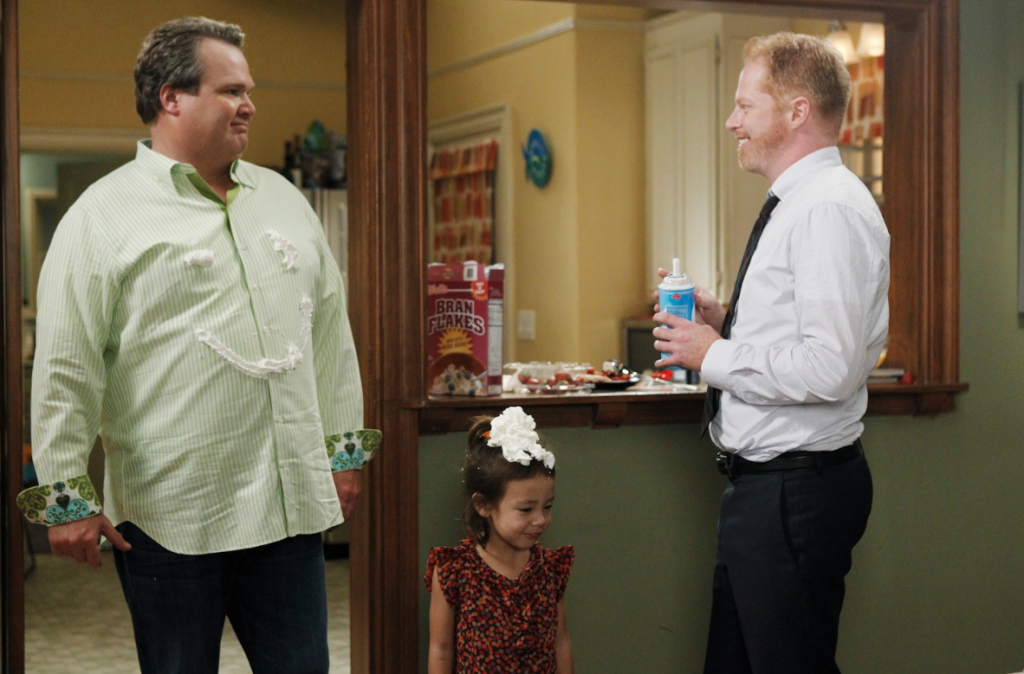 """""""Modern Family"""" dads Cam (Eric Stonestreet) and Mitchell (Jesse Tyler Ferguson) try to redefine stereotypes. (Courtesy of ABC)"""