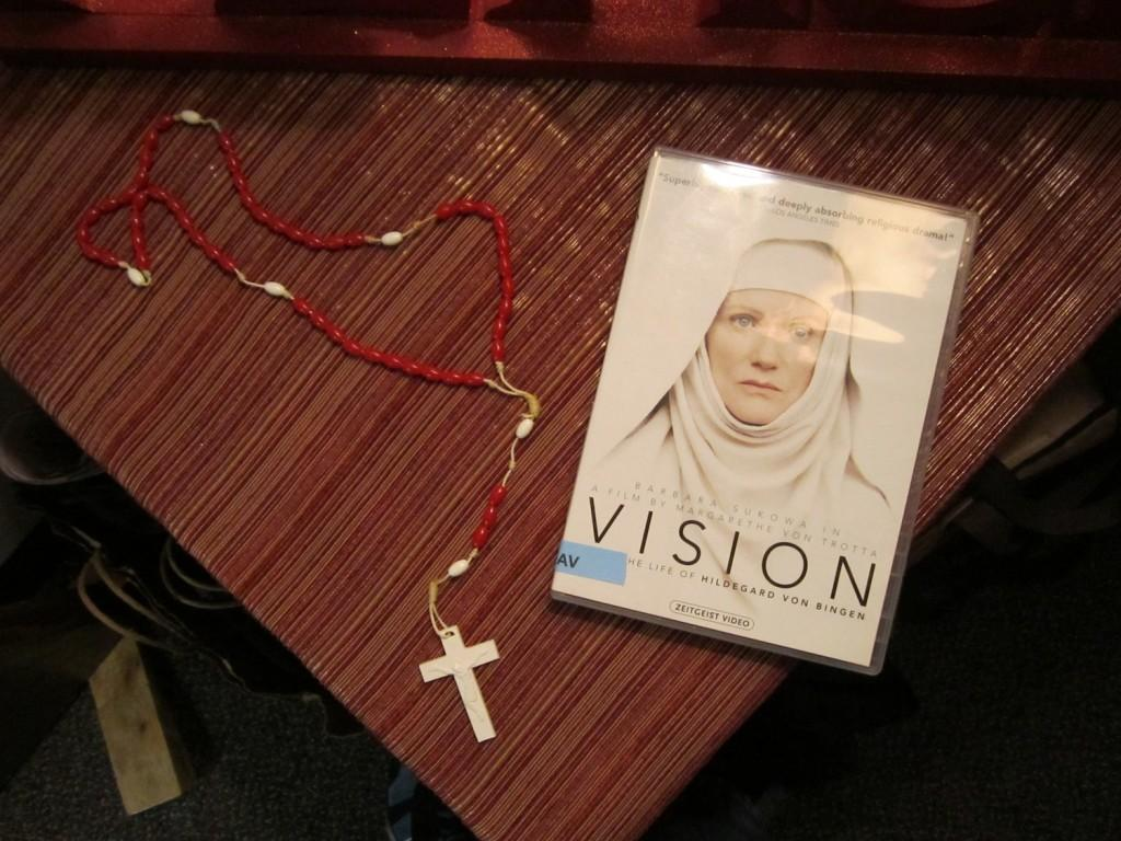 """Campus Ministry's """"Women of Faith"""" discussion series included a screening of the film """"Vision"""" about nun Hildegard von Bingen's life. (Photo Illustration by Harry Huggins)"""