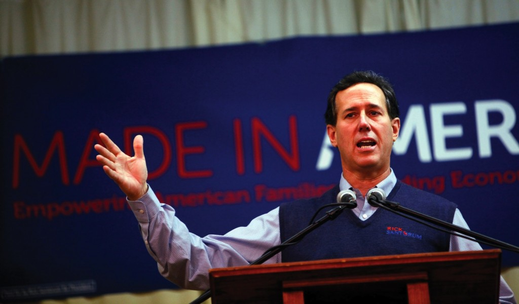 Rick Santorum's speeches have been more than memorable, whether he intends for them to be or not. (Shari Lewis/Columbus Dispatch/MCT)