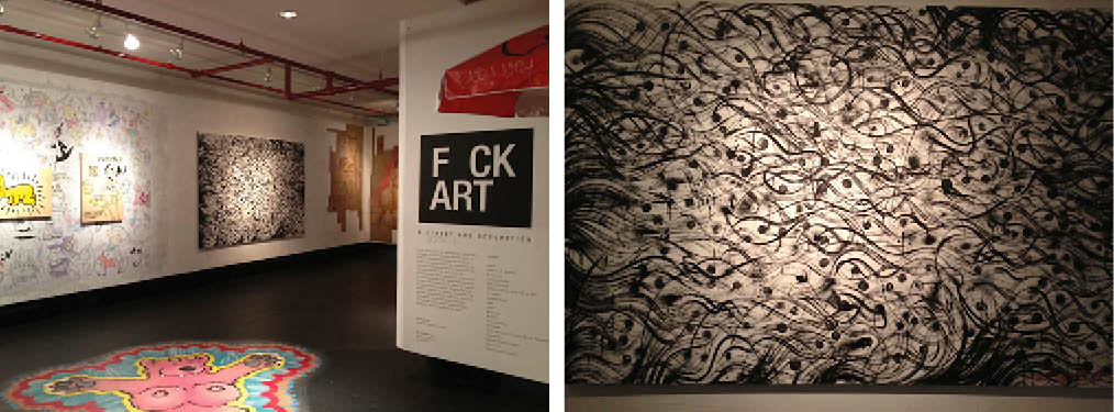 """The Museum of Sex opens its latest exhibit """"Fuck Art: A Street Art Occupation"""" featuring different forms of art from 20 different artists. (Jackson Galan/Fordham Observer)"""