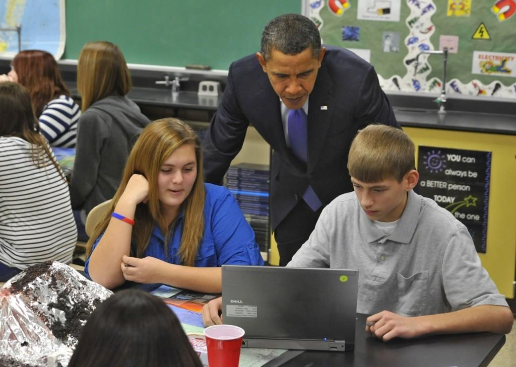 President Obama found a new way to interact with the American electorate through social media site, Reddit. (Amy Davis/Baltimore Sun/MCT)