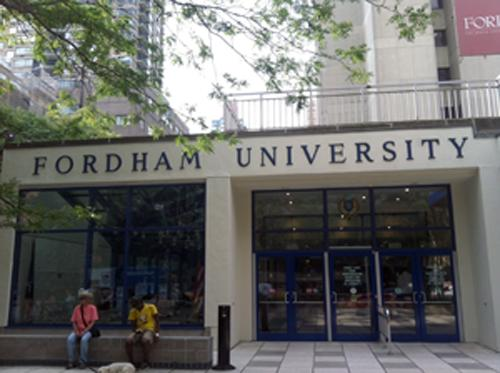 The front of Fordham College at Lincoln Center's Lowenstein building. (Mehgan Abdelmassih/The Observer)