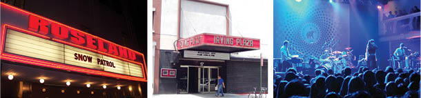 NYC music venues: Roseland Ballroom, Irving Plaza and Terminal 5 (Tammy Lo/Beyond My Ken/Ames/Wikipedia Commons)