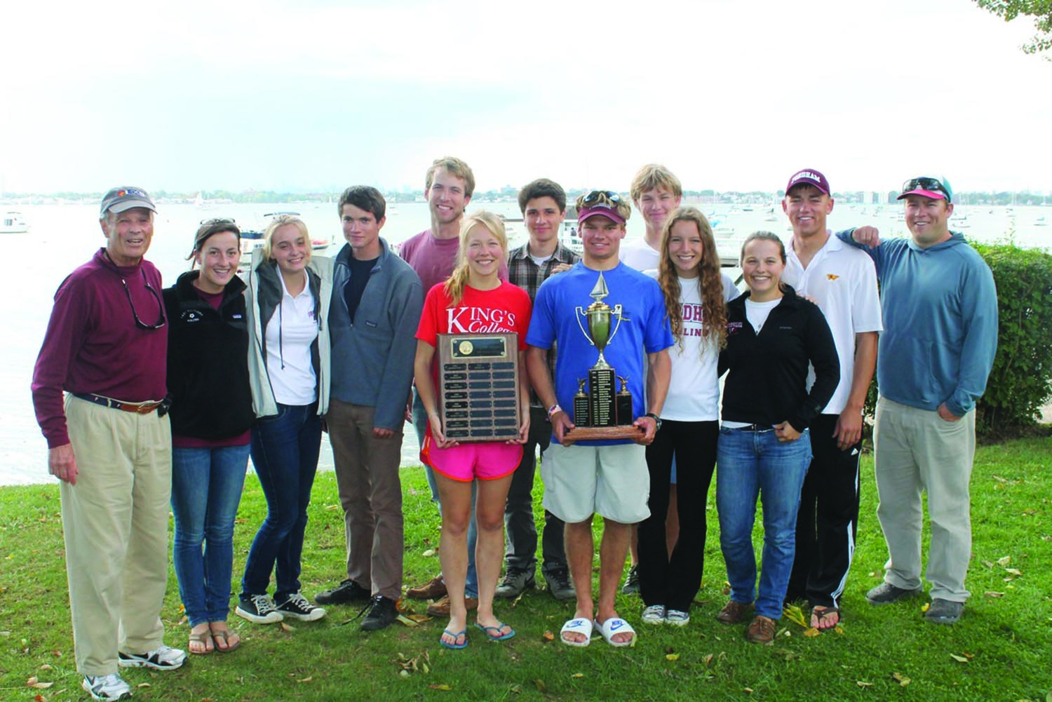 The Fordham sailing team has gone from competitive to formidable, knocking off top-ten teams as of late and winning the Jesuit Open, seen here. (Courtesy of the Sailing Team)