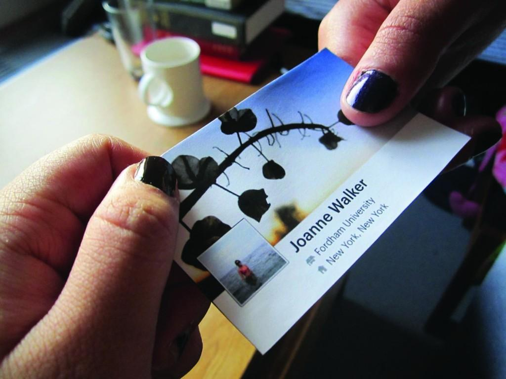 Now, business cards aren't the only tool we use for professional networking in our digitalized society. (Sherry Yuan/ The Observer)