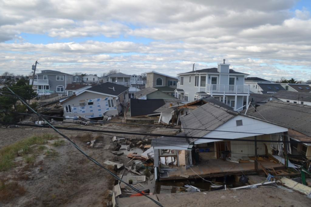 Kevin Klein's, FCLC '15, neighborhood in West Islip, NY was devastated by Hurricane Sandy: houses flooded, rooves fell in and looting became a widespread problem. (courtesy of Kevin Klein)