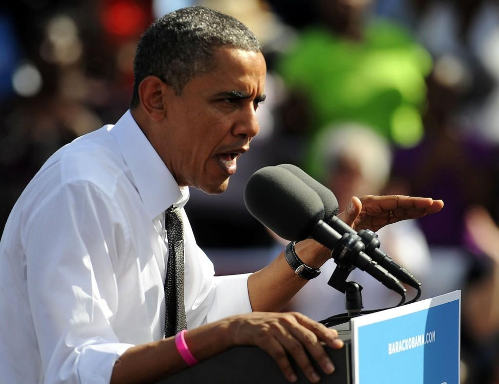 President Barack Obama in Delray Beach, Florida, Tuesday, October 23, 2012. (Mark Randall/Sun Sentinel/MCT)