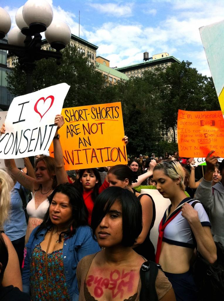 Each year women around the world participate in Slut Walk, a protest against street harassment, rape culture and victim blaming. (Katherine Fotinos/The Observer Archives)