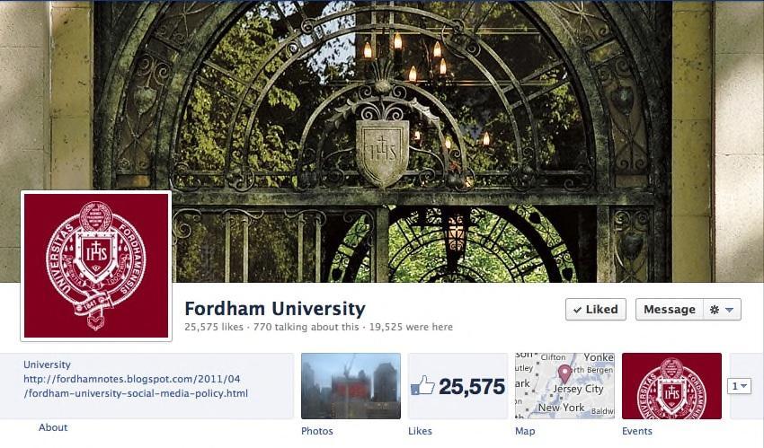 Fordham Shares its Social Media Policy via Social Media