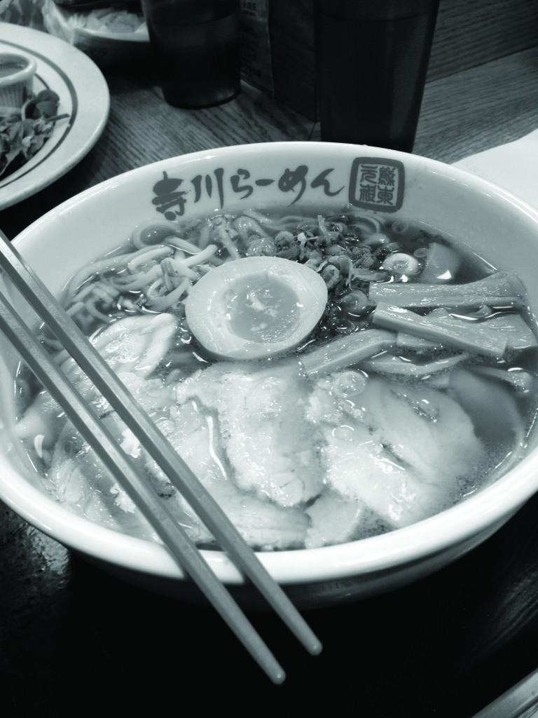 A bowl of Sho-yu ramen is easy on the wallet and warm on a cold December day. (Rex Sakamoto/The Observer)