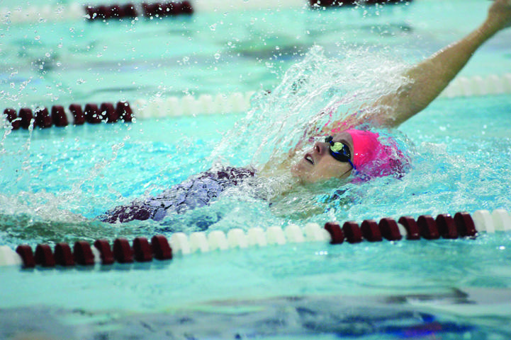 Swimmer Brienne Ryan, FCRH '13,  has won the Atlantic 10 Conference's Performer of the Week award a conference record four weeks in a row. (Courtesy of Fordham Sports)