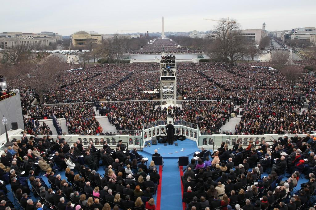 President Barack Obama delivers his inauguration speech during his second inauguration at the West Front of the U.S. Capitol in Washington, D.C., January 21, 2013. (Alex Garcia/Chicago Tribune/MCT)