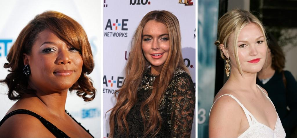 Queen Latifah, Lindsay Lohan and Julia Stiles are recent examples of actors who have found gone from appearing in movies on the big screen to those showing on TV. (Left to right: Olivier Douliery/Abaca Press/MCT;Sonia Moskowitz/Globe Photos/MCT;Francis Specker/Landov/MCT)