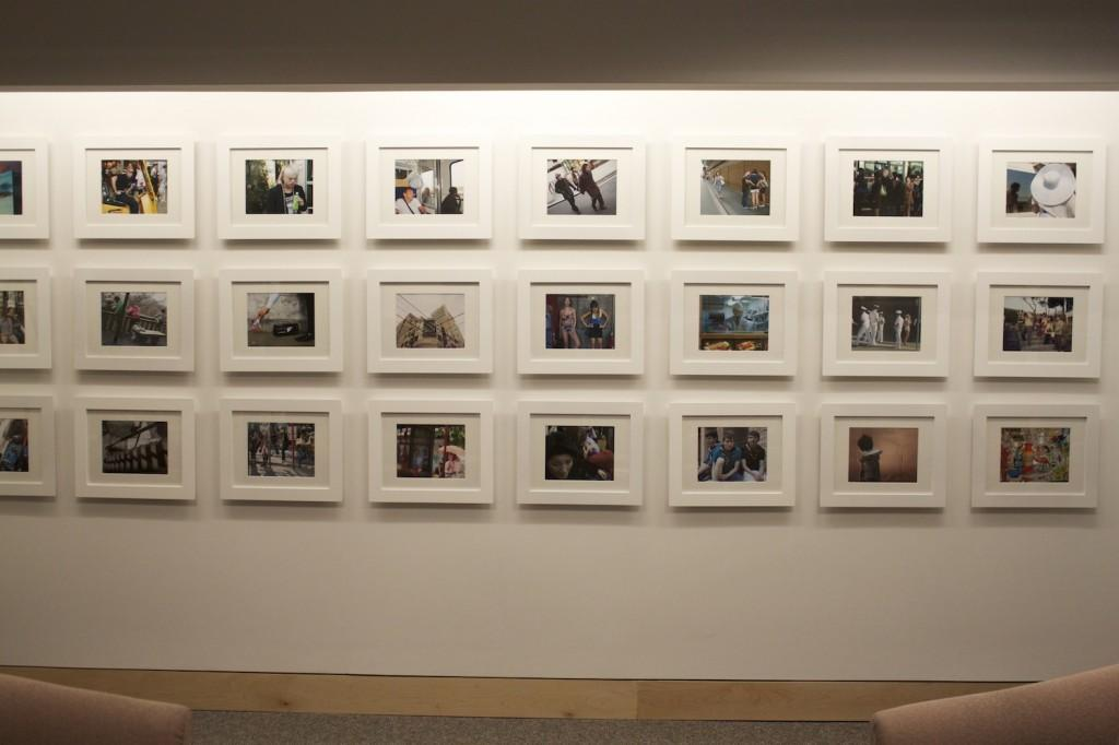 Hayden Hartnett's Project Space is now on the second floor of the Leon Lowenstein building in the Office of Undergraduate Admissions. The space features a past student's photographs in a three row lay out on the main wall. (Sara Azoulay/The Observer)