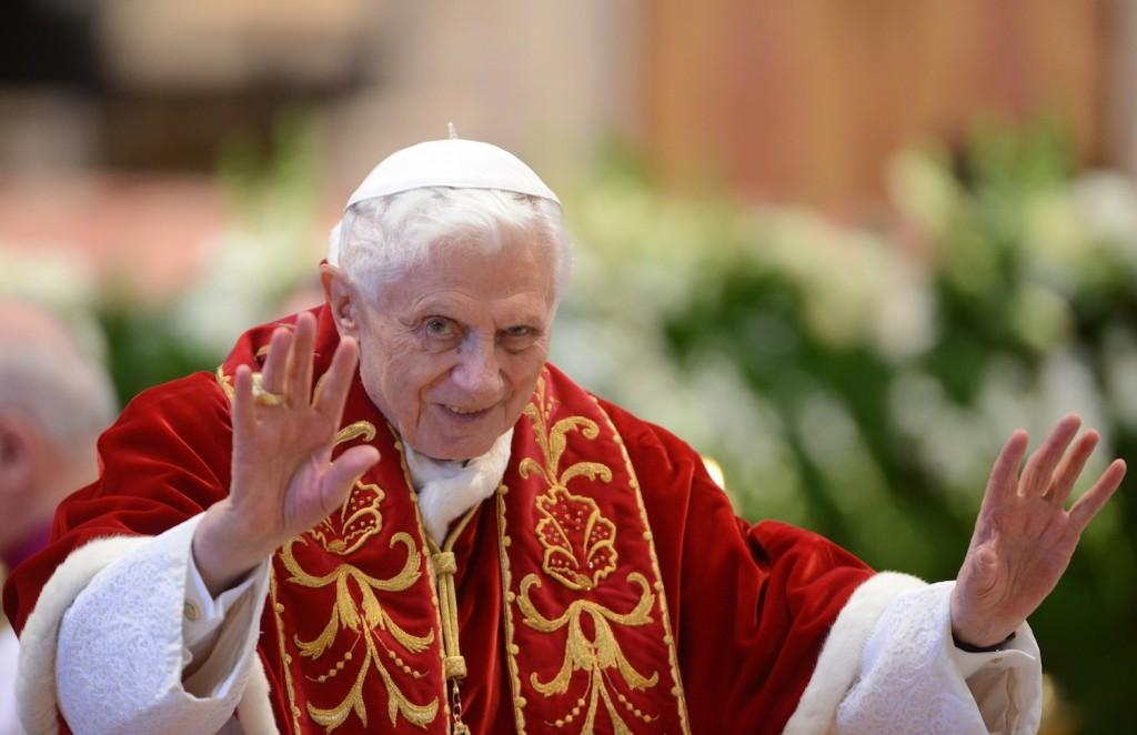 Pope Benedict XVI attends a ceremony to mark the 900th birthday of the Knights of Malta, Feb. 9, 2013. (Eric Vandeville/Abaca Press/MCT)