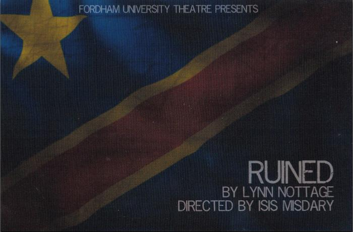 The mainstage production of Ruined,
