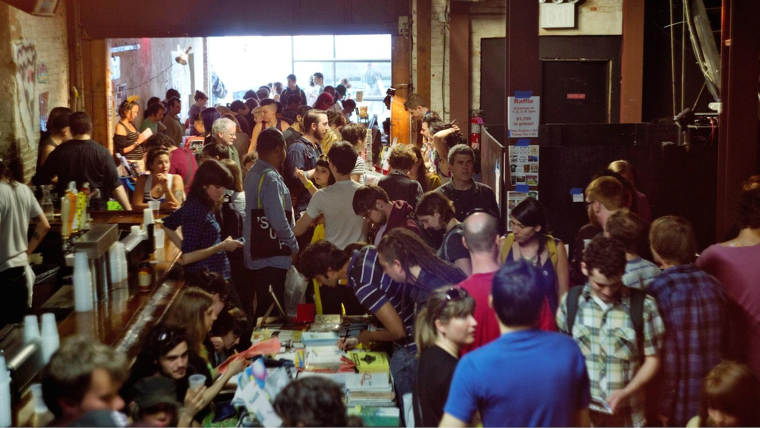 A crowd at the 2012 Brooklyn Zine Festival. (Courtesy of BrooklynZine/Photo by Eric Epstein)