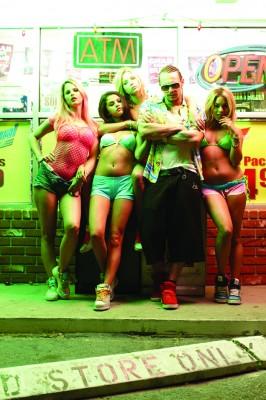 From left to right: Rachel Korine, Selena Gomez, Ashley Benson, James Franco and Vanessa Hudgens. (Courtesy Michael Muller/MCT)