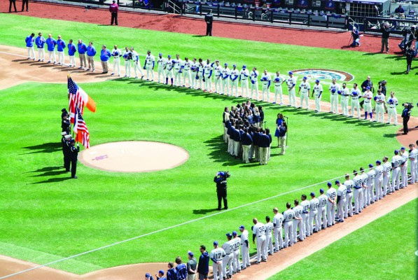 The Mets came roaring out of the gates on Opening Day, defeating the San Diego Padres by a score of 11-2. (Jennifer Khedaroo/The Observer)
