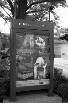 The advertisement for FCLC's 2013-2014 theatre season. (Tavy Wu/The Observer)
