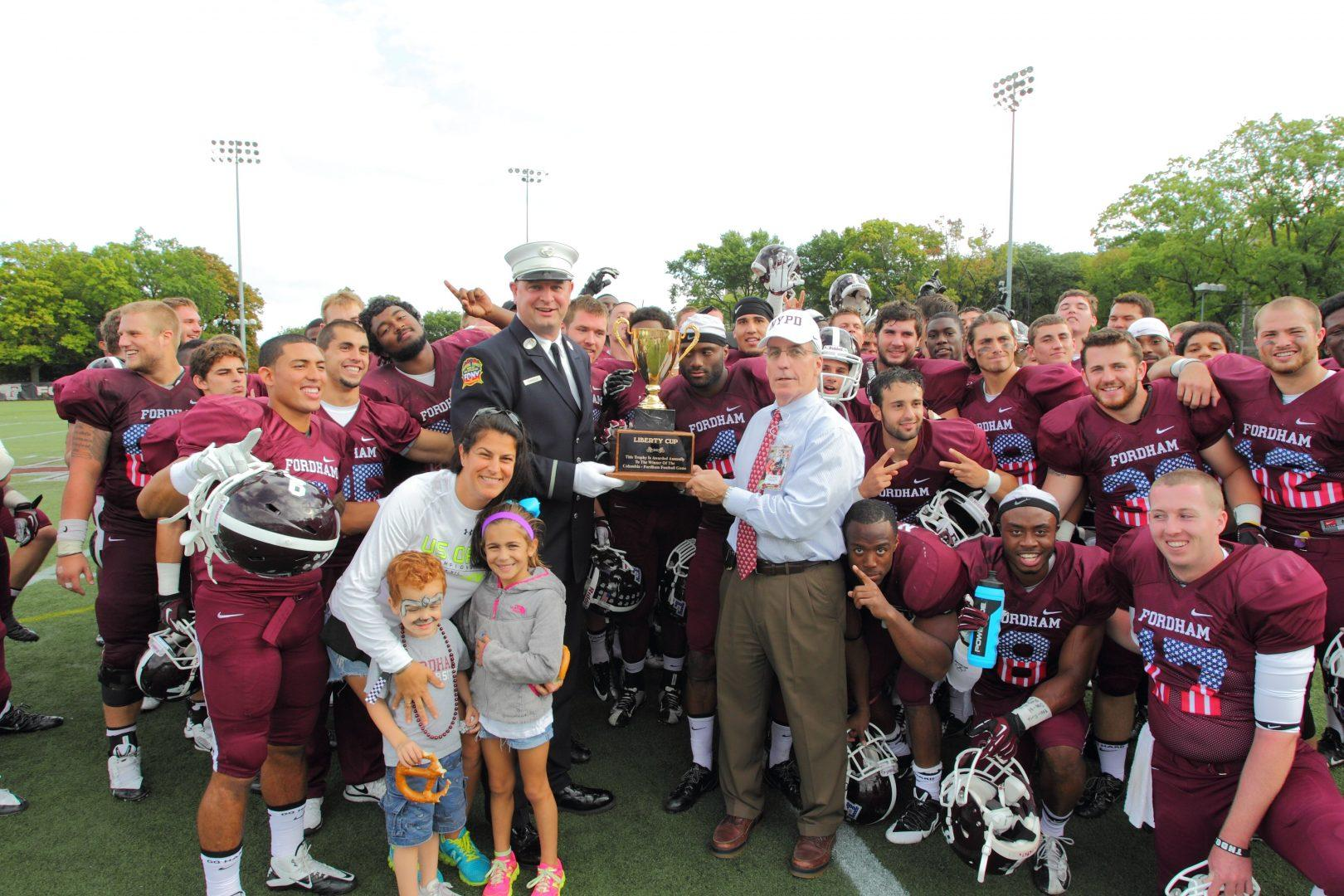 After winning the Liberty Cup against Columbia, Fordham improved to 5-0 by beating Saint Francis Courtesy of Fordham sports