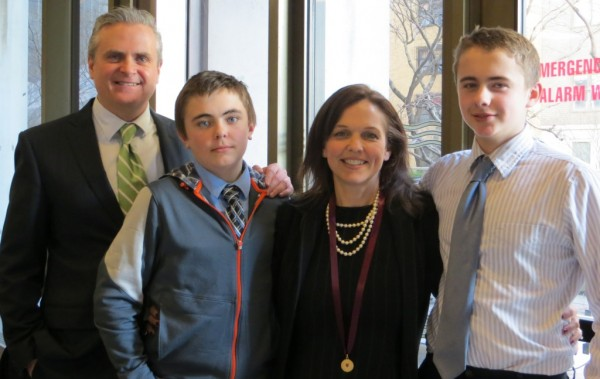 Leslie Timoney and family. (Courtesy of Leslie Timoney)