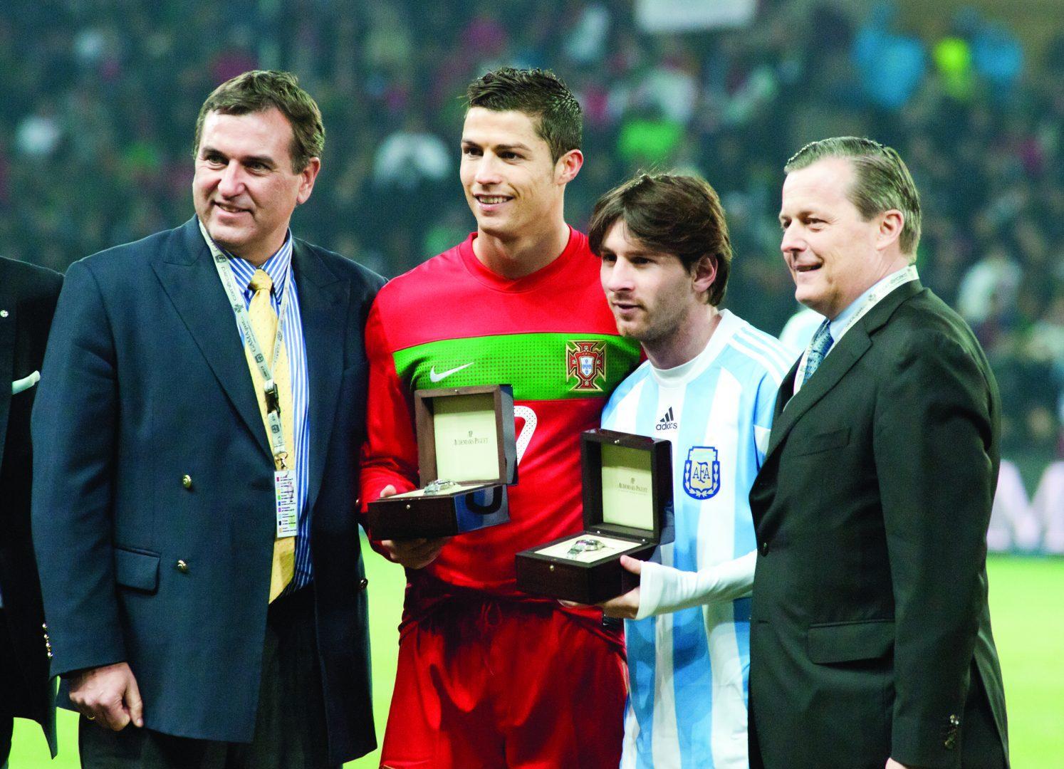 Players Cristiano Ronaldo and Lionel Messi have the biggest rivalry in soccer.  (Fanny Schertzer /Wikipedia Commons)