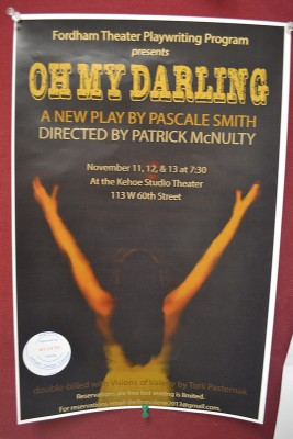 Found throughout the halls of FCLC, a poster for Pascale Smith's play, Oh My Darling. In the same night, Visions of Valerie will be presented, which was written by Torii Pasternak. (Sri Stewart/The Observer)