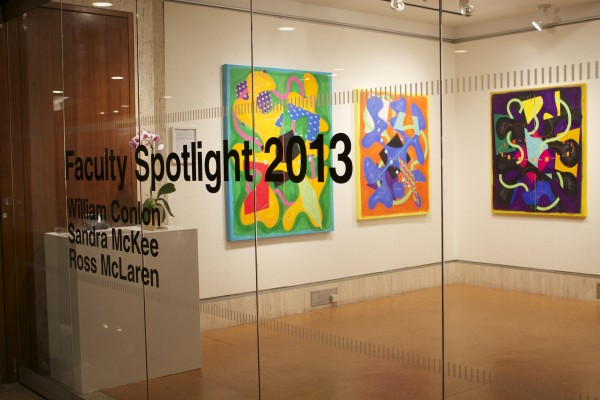 """The """"2013 Faculty Spotlight"""" opened in the Ildiko Gallery on Nov. 4 where it will stay until Jan. 17, 2014. (Tyler Martins/The Observer)"""